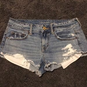 Distressed American Eagle Jean Shorts